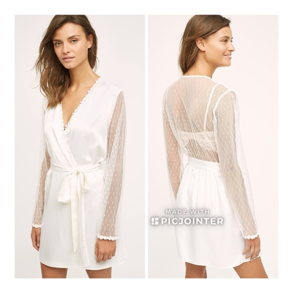 BHLDN Flora Nikrooz Showstopper Bridal Robe L 6302f131a